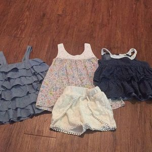 Mix and match Tops and one pair of shorts